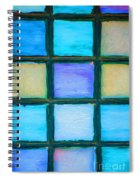 Colored Window Panes Spiral Notebook