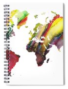 Colored World Map Spiral Notebook