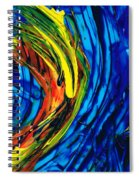 Colorful Abstract Art - Energy Flow 2 - By Sharon Cummings Spiral Notebook