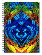 Colorful Abstract Art - Purrfection - By Sharon Cummings Spiral Notebook