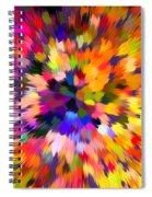 Colorful Abstract Background Spiral Notebook