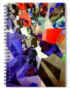 Colorful Abstract Geometric Cluster Spiral Notebook