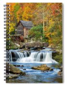 Colorful Autumn Grist Mill Spiral Notebook