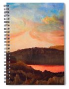 Colorful Autumn Sunset Spiral Notebook