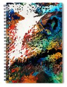 Colorful Bear Art - Bear Stare - By Sharon Cummings Spiral Notebook
