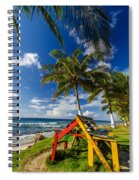 Colorful Bench On Caribbean Coast Spiral Notebook
