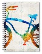Colorful Bike Art - Free Spirit - By Sharon Cummings Spiral Notebook