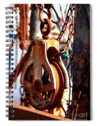 Colorful Boat Pully Spiral Notebook
