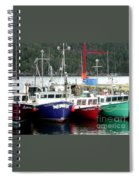 Colorful Boats Tied Up To The Wharf Spiral Notebook