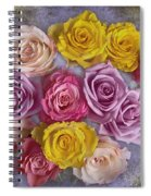 Colorful Bouquet Of Roses Spiral Notebook