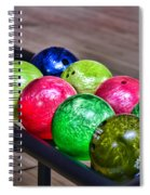 Colorful Bowling Balls Spiral Notebook