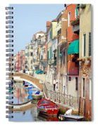 Colorful Canal Spiral Notebook