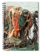 Colorful Catch - Starfish In Fishing Nets Spiral Notebook