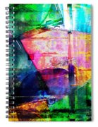 Colorful Cd Cases Collage Spiral Notebook