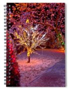 Colorful Christmas Lights On Trees Spiral Notebook