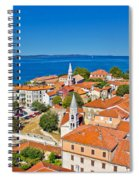 Colorful City Of Zadar Rooftops  Towers Spiral Notebook