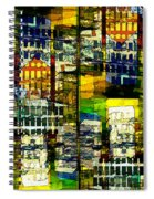 Colorful City Scene Spiral Notebook