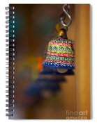 Colorful Clay Bells Spiral Notebook