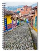 Colorful Cobblestone Street Spiral Notebook