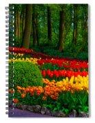 Colorful Corner Of The Keukenhof Garden 4. Tulips Display. Netherlands Spiral Notebook