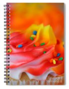 Colorful Cup Cake Spiral Notebook