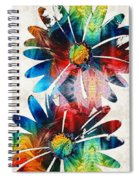 Colorful Daisy Art - Hip Daisies - By Sharon Cummings Spiral Notebook