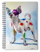 Colorful Dalmatian Chihuahua Spiral Notebook
