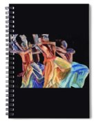 Colorful Dancers Spiral Notebook