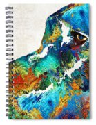 Colorful Dog Art - Loving Eyes - By Sharon Cummings  Spiral Notebook