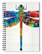 Colorful Dragonfly Art By Sharon Cummings Spiral Notebook