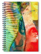Colorful Elephant Art By Sharon Cummings Spiral Notebook
