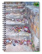 Colorful Fall Leaves Autumn Stone Steps Old Mentone Inn Alabama Spiral Notebook