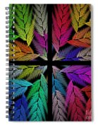 Colorful Feather Fern - 4 X 4 - Abstract - Fractal Art - Square Spiral Notebook