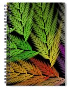 Colorful Feather Fern - Abstract - Fractal Art - Square - 1 Tl Spiral Notebook