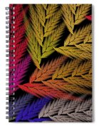 Colorful Feather Fern - Abstract - Fractal Art - Square - 2 Tr Spiral Notebook