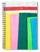 Colorful Felt Spiral Notebook