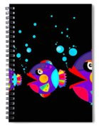 Colorful Fish Creation Spiral Notebook