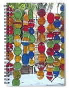 Colorful Fishing Floats Spiral Notebook