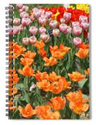 Colorful Flower Bed Spiral Notebook