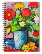 Colorful Flowers From My Garden Spiral Notebook