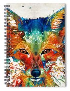 Colorful Fox Art - Foxi - By Sharon Cummings Spiral Notebook
