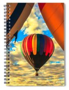 Colorful Framed Hot Air Balloon Spiral Notebook