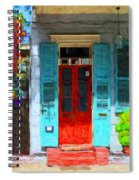 Colorful French Quarter Door  Spiral Notebook