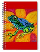 Colorful Frog Spiral Notebook