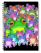 Colorful Froggy Family Spiral Notebook
