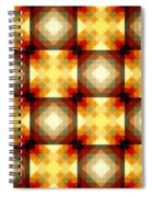 Colorful Geometric Collage Spiral Notebook