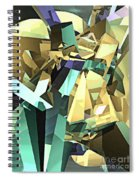 Colorful Geometric Shapes Spiral Notebook