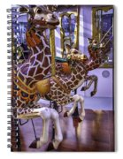 Colorful Giraffes Carrousel Spiral Notebook