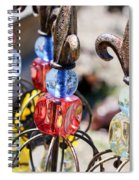 Colorful Glass And Metal Garden Ornaments Spiral Notebook