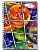 Colorful Glass Balls Spiral Notebook